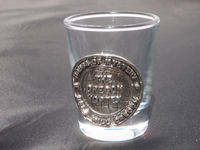 Oregon Vortex Shotglass with Pewter Medalion